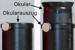Teleskoptubus: Okularauszug