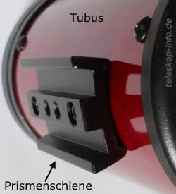 Teleskoptubus: Prismenschiene / Prismenleiste